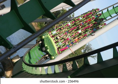 Roller coaster in Universal Adventure theme park, Florida