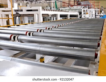 roller conveyer on a factory