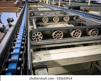 Roller conveyors for the transportation industry. art