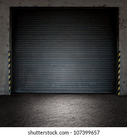 roller door with spotlight