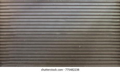 roller metal door background.