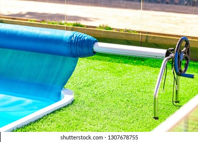 Roller pool cover.