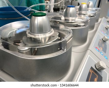 Roller pumps of heart lung machine for cardiopulmonary bypass in open heart surgery at operating room