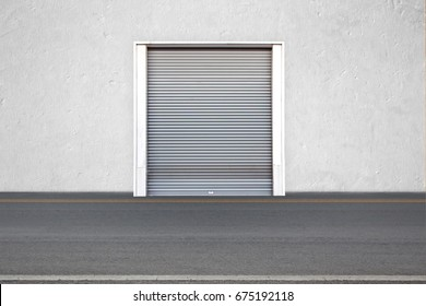 Roller shutters the factory buildings for warehouse