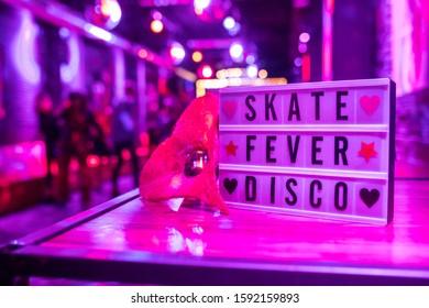 Roller skate disco at event