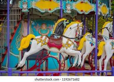 Rollercoaster 'Horse ' Walibi, ,Biddinghuizen, The Netherlands, 22 sept 2018