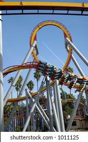 Rollercoaster park. Loop.