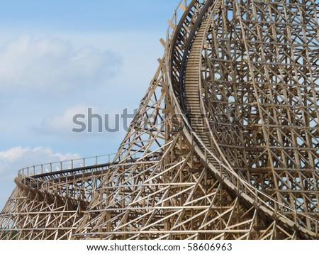 rollercoaster troy toverland sevenum netherlands stock photo (edit