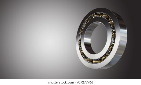 Rolling bearing 3d illustration