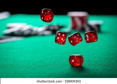 Rolling Casino Dice
