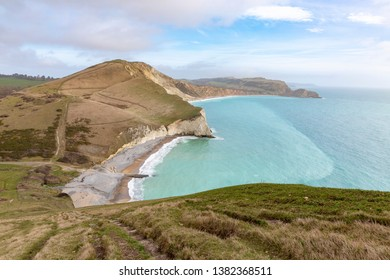 Rolling Clifftops at Arish Mell and Worbarrow Bay in Dorset, England, UK