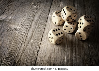 Rolling the dice concept for business risk, chance, good luck or gambling