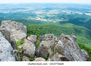 rolling green hills and mountains with long view, Appalachian mountain range