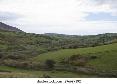 Rolling hills and farmland, Dingle Peninsula, County Kerry, Ireland