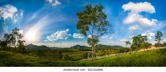 Rolling Hills Panorama, Kau Yai, Thailand