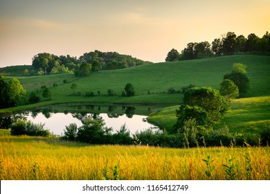 The rolling hills of SE Ohio, on a peaceful evening.