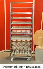 Rolling Rack Cart for Sheet Molds in Bakery