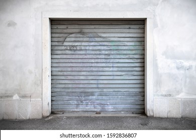 rolling shutter, closed portcullis dirty just a little
