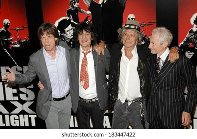The Rolling Stones, Mick Jagger, Ronnie Wood, Keith Richards, Charlie Watts at the press conference for SHINE A LIGHT Press Conference, The New York Palace Hotel, New York, March 30, 2008
