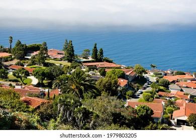 Rollings Hills Estates California view of Pacific Ocean
