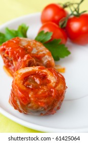 Rollmop in tomato sauce
