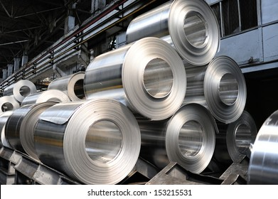 Rolls of aluminum sheet