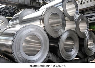 Rolls of aluminum sheet