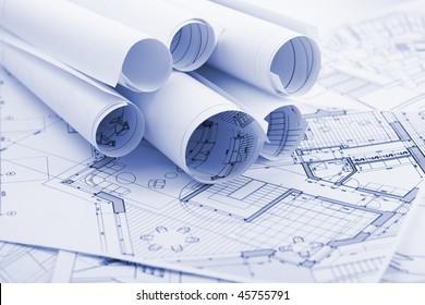 rolls of architecture blueprints