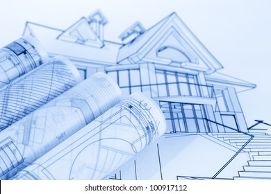 Rolls Of Architecture Blueprints U0026 House Plans