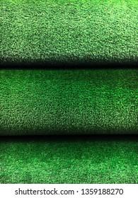 Rolls of artifical grass