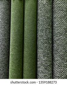 Rolls of carpet as a background