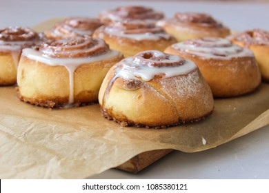 "Rolls ""Cinnabon""cinnamon and sugar, drizzled with condensed milk."