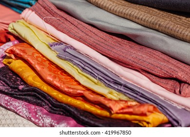 rolls of fabric for medieval dress