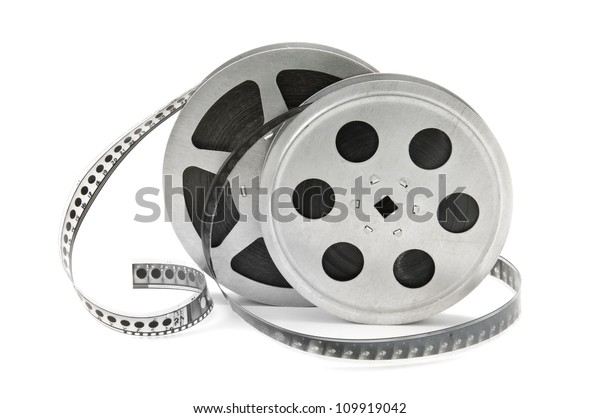rolls of film isolated on white background