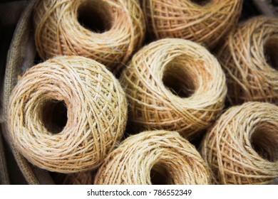 Rolls of Natural hemp fiber or manila rope ,sisal twine,sisal fibre