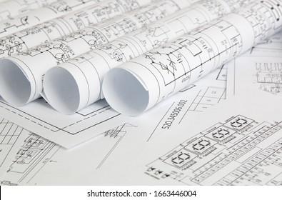 rolls of paper electrical engineering drawings