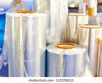 Rolls of polyethylene plastic film