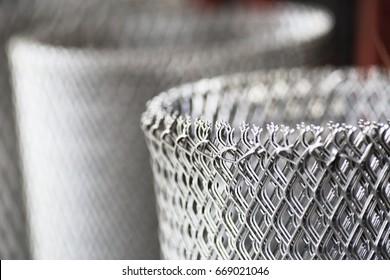 Rolls of steel wire mesh