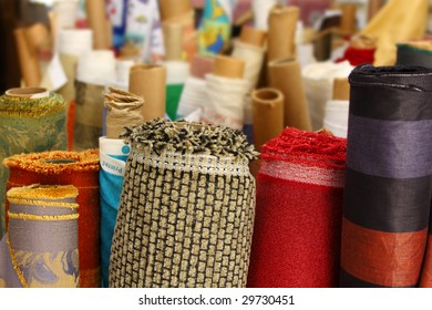 Rolls of textured fabric