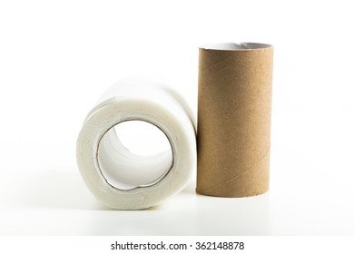 Rolls of toilet paper isolated
