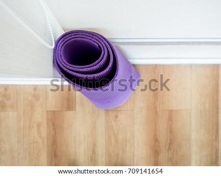 Rolls yoga mats left yoga gym stock photo edit now 709141654