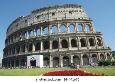 Roma - Amphitheatre Flavian Colosseum. Ancient arena