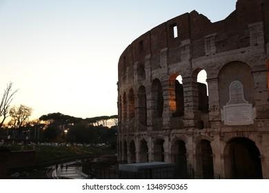 Roma city throat bird view