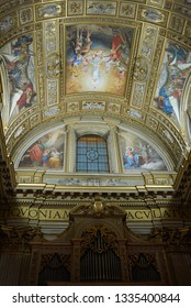 Roma, Italy - February 05, 2019 : View of the apse of Saint Andrew Basilica, called Sant Andrea della Valle