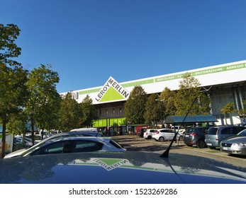 ROMA, ITALY - October 05, 2019. Exterior of the Leroy Merlin Store. Leroy Merlin is a French home-improvement and gardening retailer serving thirteen countries