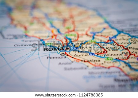 Sora Italy Map.Roma Italy On Map Stock Photo Edit Now 1124788385 Shutterstock