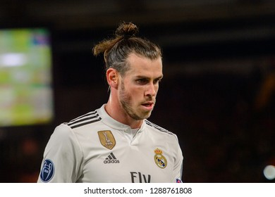 ROMA - NOV 27, 2018: Gareth Bale 11 close uo portrait. AS Roma - Real Madrid. UEFA Champions League.  Group stage. Matchday 5. Stadio Olimpico