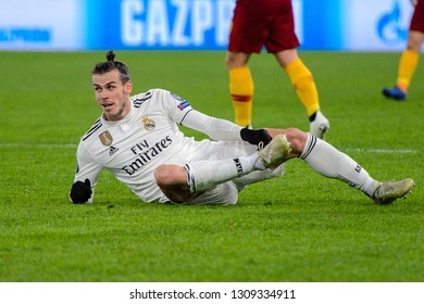 ROMA - NOV 27, 2018: Gareth Bale 11 on the grass. AS Roma - Real Madrid. UEFA Champions League.  Group stage. Matchday 5. Stadio Olimpico