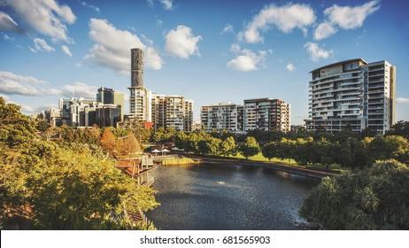 Roma Street Parkland lookout, Brisbane, Queensland