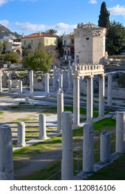 The Roman Agora in Athens with the Temple of the Winds in the background